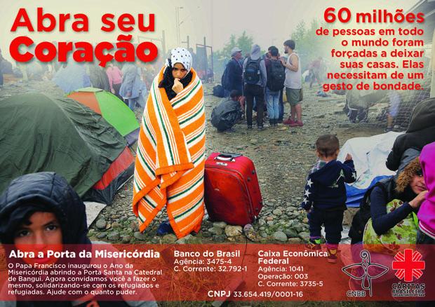 Cartaz da Campanha. Foto: Divulgação CNBB