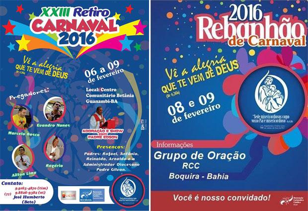 Na Diocese de Caetité, acontecerá retiro na cidade de Guanambi e rebanhão na cidade de Boquira