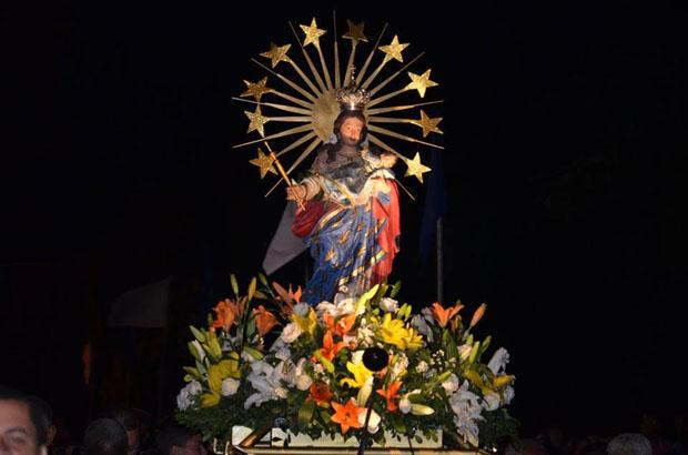 Imagem de Nossa Senhora do Livramento durante festejos em Igaporã. Foto: Aílton Saraiva/Pascom Igaporã