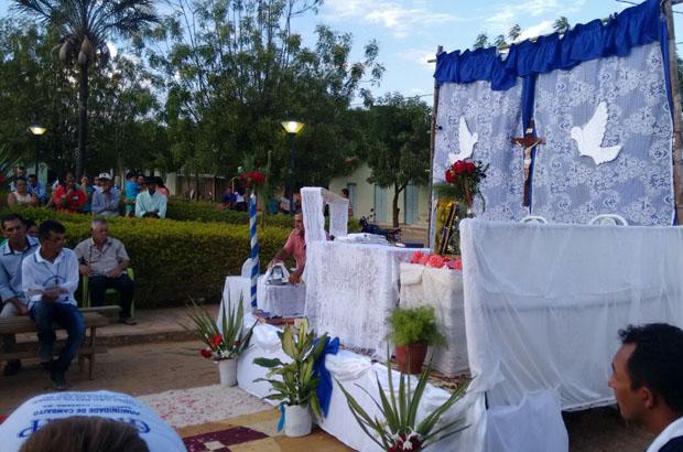 Imagem de Nossa Senhora Aparecida peregrina em Riacho de Santana